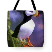 Horned Puffin Tote Bag