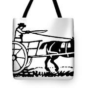 Horse & Cart, 19th Century Tote Bag