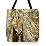 Horse Abstract Neutral Tote Bag
