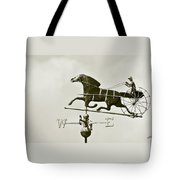 Horse And Buggy Weathervane In Sepia Tote Bag