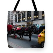 Horse And Carriage Nyc Tote Bag