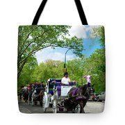Horse And Carriages Central Park Tote Bag