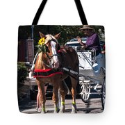 Horse And Cart Tote Bag