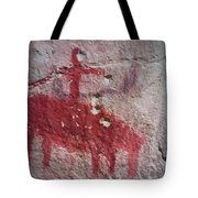 Horse And Rider Cave Painting Tote Bag