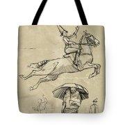 Horse And Rider Tote Bag