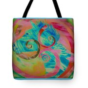 Horse And Spirals In Pink Tote Bag