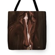 Horse Apple Warm Brown Tote Bag