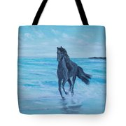 Horse At The Sea Tote Bag