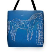 Horse Automatic Toy Patent Artwork 1867 Tote Bag by Nikki Marie Smith