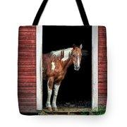 Horse - Barn Door Tote Bag