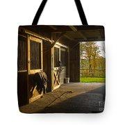 Horse Barn Sunset Tote Bag