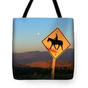 Horse Crossing Tote Bag