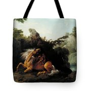Horse Devoured By A Lion Tote Bag