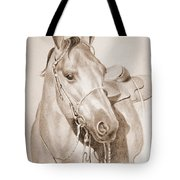 Horse Drawing Tote Bag