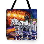 Horse Drawn Carriage Night Tote Bag