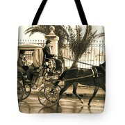 Horse Drawn Carriage Ride Tote Bag