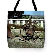Horse Drawn Plow Tote Bag