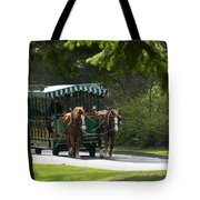 Horse Drawn Trolely Tote Bag