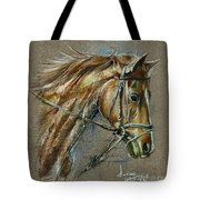 My Horse Face Drawing Tote Bag