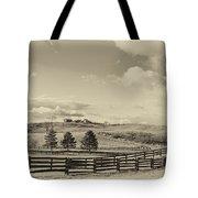 Horse Farm Sepia Tote Bag