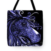 Horse Head Blues Tote Bag