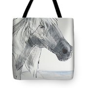 Horse Head Drawing Tote Bag