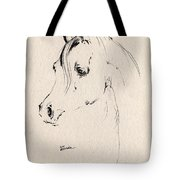 Horse Head Sketch Tote Bag