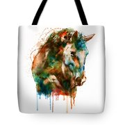 Horse Head Watercolor Tote Bag