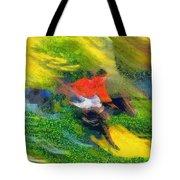 Horse Hurdles Tote Bag