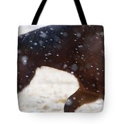 Horse In Snow   #5425 Tote Bag