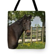 Horse In Spring Tote Bag
