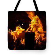 Horse In The Fire Tote Bag