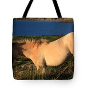 Horse In Wildflower Landscape Tote Bag