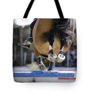 Horse Jumping Tote Bag