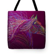 Horse Of Fire Tote Bag