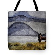 Horse Of The Mountains With Stained Glass Effect Tote Bag
