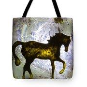 Horse On A Quartz Crystal Tote Bag