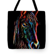 Horse On Black Tote Bag
