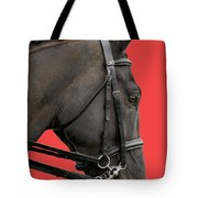 Horse On Red Tote Bag