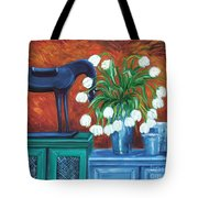 Horse On The Cupboard Tote Bag