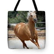 Horse On The Run Tote Bag