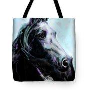 Horse Painted Black Tote Bag