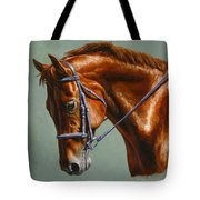 Horse Painting - Focus Tote Bag by Crista Forest