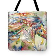 Horse Painting.24 Tote Bag