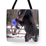 Horse Playing Ball Tote Bag