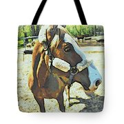 Horse Point Of View Tote Bag