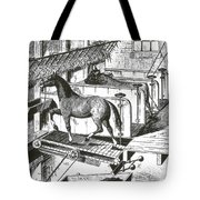 Horse Powered Stall Cleaner, 1880 Tote Bag