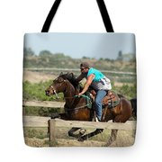 Horse Race Tote Bag