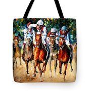 Horse Race - Palette Knife Oil Painting On Canvas By Leonid Afremov Tote Bag