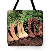 Horse Riding Boots Tote Bag